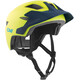 TSG Cadete Solid Color Helmet Youth satin acid yellow-blue